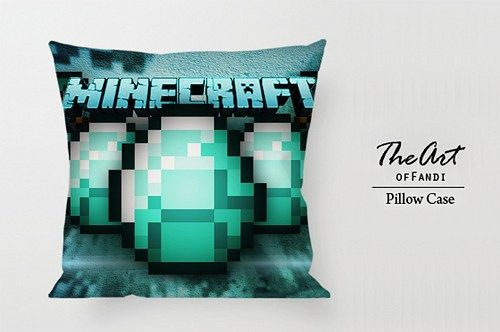 "Minecraft Awesome - Custom Square 18""x18"" One Side Pillow Case"