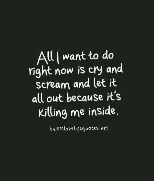 Quotes About Crying: I Want To, I Want And Dying Inside On Pinterest