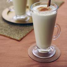 Non-alcoholic Eggnog Recipe. The eggs are gently cooked to kill any potential bacteria in this eggnog. Since it contains no alcohol, the kids will enjoy it as much as the adults.