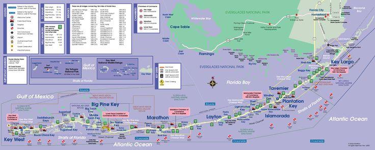❦ Florida Keys Map