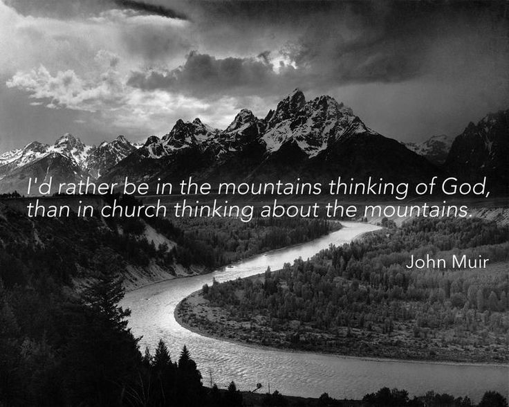 image by Ansel Adams, words by John Muir. //Kindred Event Studio