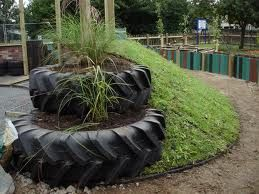 Tyre garden - cant work out how it's gone but I like it!
