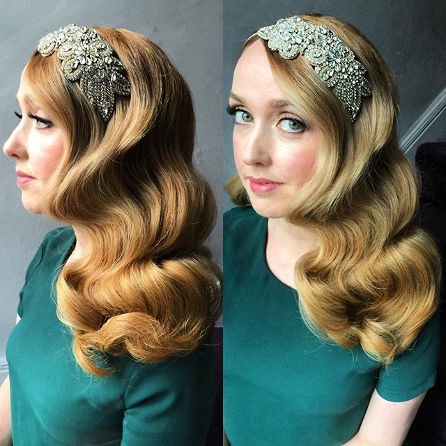Hollywood waves, perfect for any occasion #hollywoodwaves #waves #longhair #blonde #redhead #redhair #blondehair #longhair #hollywoodcurls #largewaves #largecurls #curls #definedcurls #hairstylist #bridal #weddinghair #bridalhair