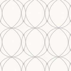 chain pattern wallpaper // Darcy gray on white wallpaper