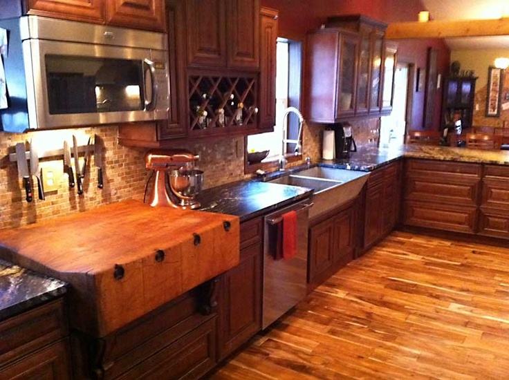 Our new kitchen including my grandfather's butcher block and a antique concrete sink. | Kitchen ...