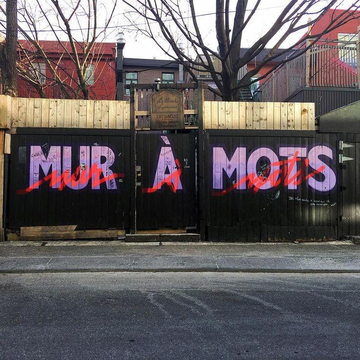Mur à mots #mtl #mtlmoments #exploremontreal