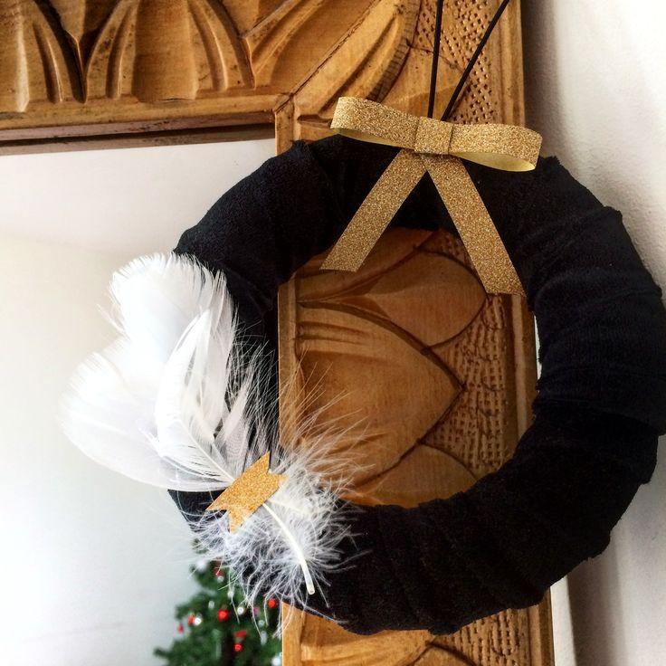 Elegant Wreath with Black Velvet