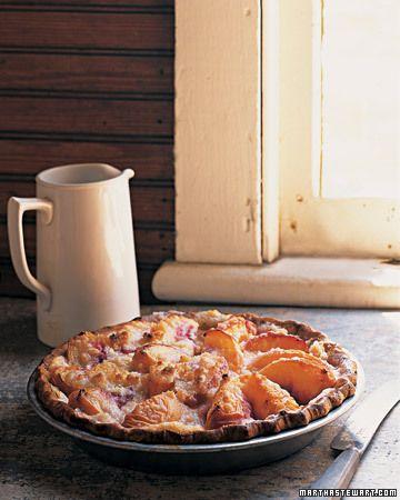 Peach and Creme Fraiche Pie... Seriously delectable | Martha Stewart
