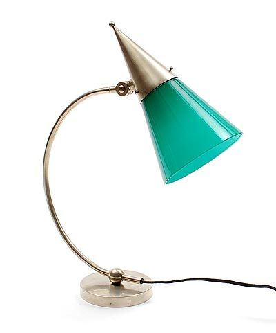 Table lamp Giso Model 403 with green glass shade design W.H.Gispen 1890-1981 1928 executed by Gispen Culemborg / the Netherlands