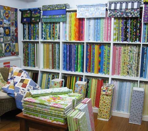 We have a small library of patchwork and quilting books and a couple of comfy chairs - ideal if you are needing a little inspiration for you...