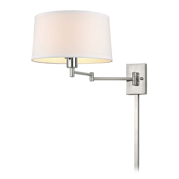 The 25 best wall lamps with cord ideas on pinterest bedside design classics lighting swing arm wall lamp with drum shade and cord cover 2293 mozeypictures Image collections