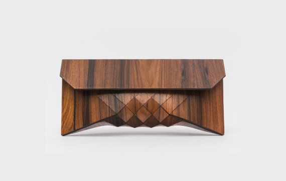 Wood Clutch // ROSE on Etsy, £350.98
