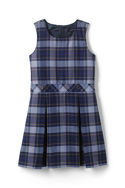 School Uniform Girls Plaid Jumper from Lands' End