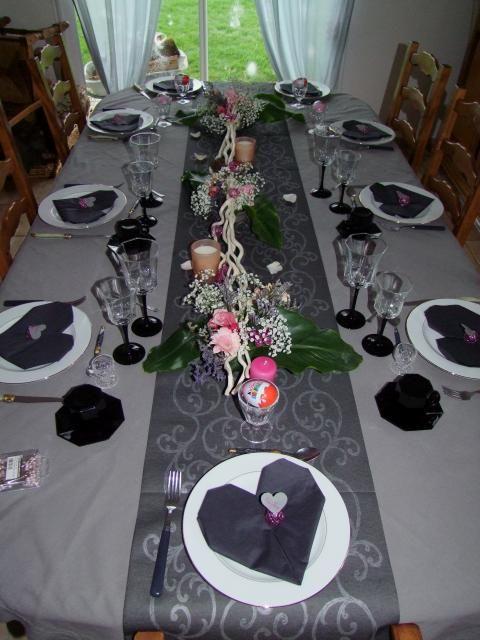 Supérieur Decoration Table Nouvel An #14: Photos Décoration De Décoration De Table Nouvel An Gris De Ninine14290