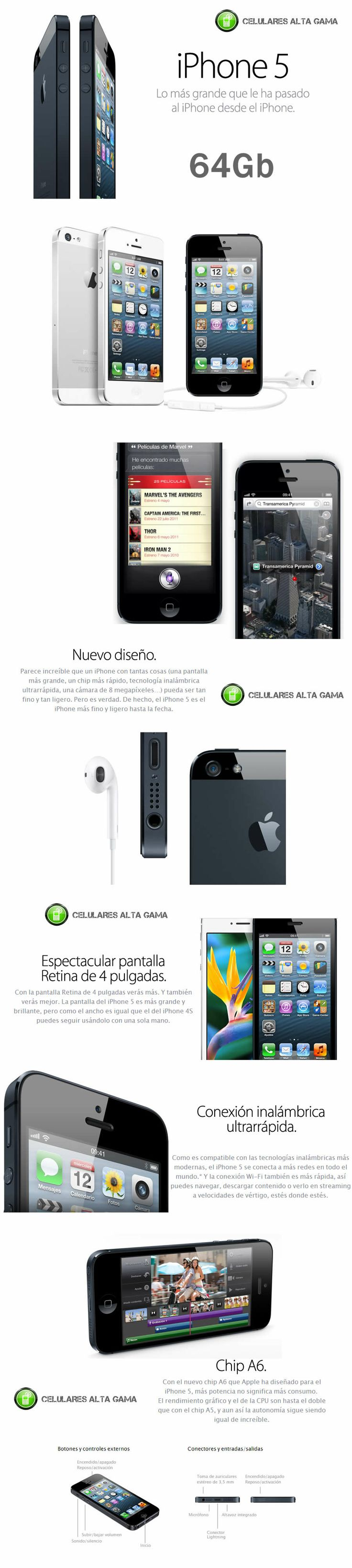 comprar iphone 5 libre 64gb / venta iphone 5 en argentina