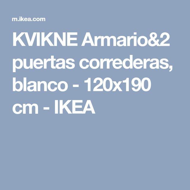 KVIKNE Armario&2 puertas correderas, blanco - 120x190 cm - IKEA