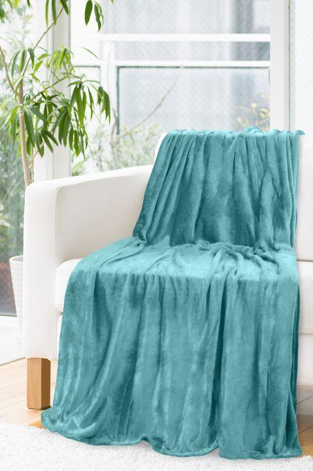 Jednofarebná teplá deka tyrkysová