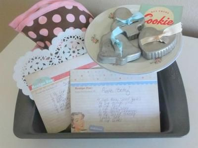 Retro Baking Homemade Gift Basket: I made this basket for my best friend, who loves to bake and adores all things retro!   What's in it?  - I found some adorable vintage cookie cutters at