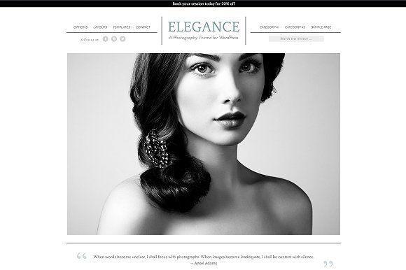 WordPress Photography Theme  by StephanieHellwig.com on @creativemarket
