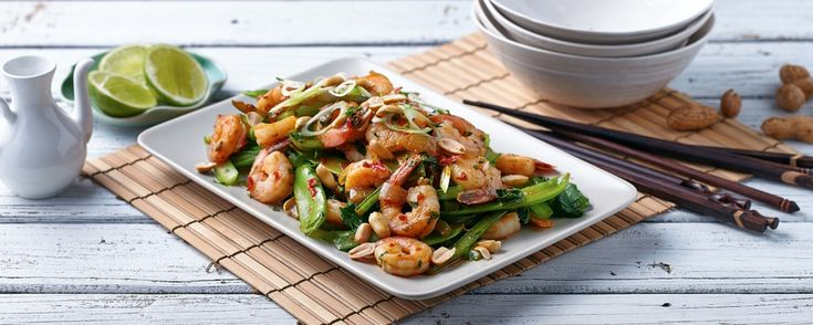 Prawn Stir Fry with Garlic, Chilli & Coriander