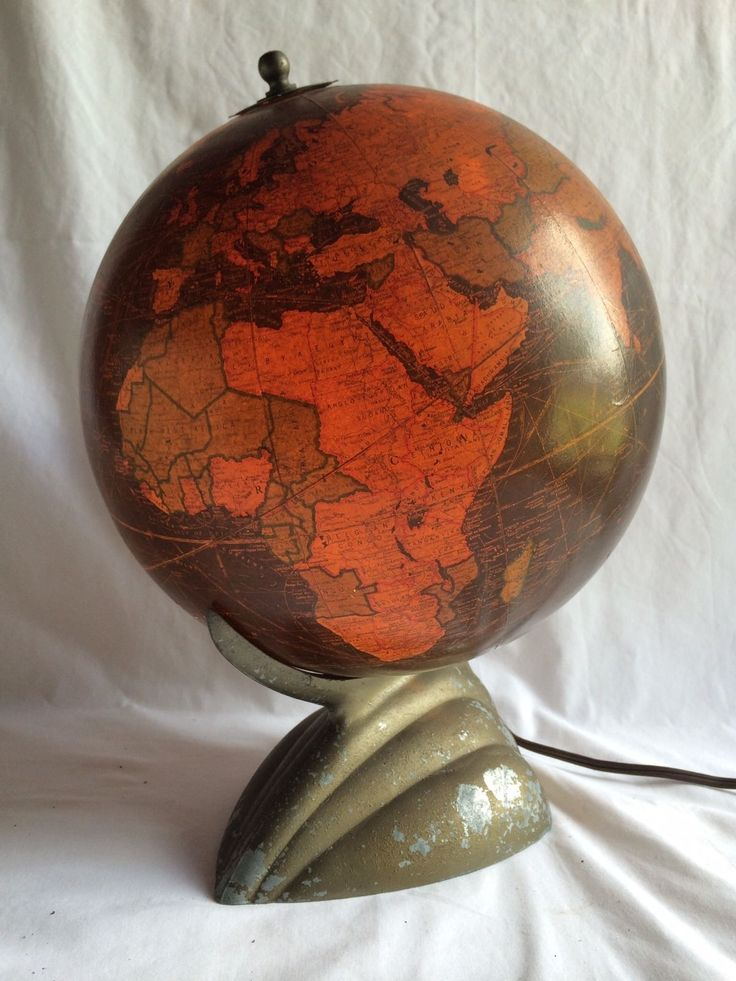 109 best Oh My Globe  images on Pinterest   Map globe  Globes and     Antique Art Deco Replogle Globes Light Up Glass World Map Globe