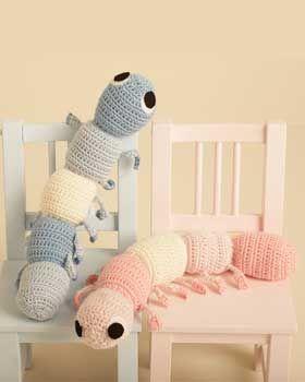 caterpillar - free crochet pattern
