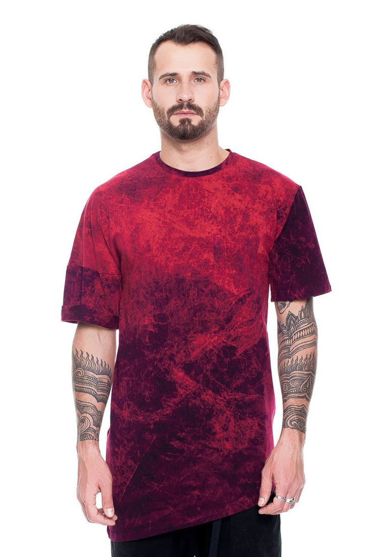 Asymmetric T-shirt, burgundy acid wash    #mariashi #fashion #russiandesigners #nofilter #outfit #outfitoftheday #outfits #outfitpost #clothes #fashionista #fashiondesigner #shopping