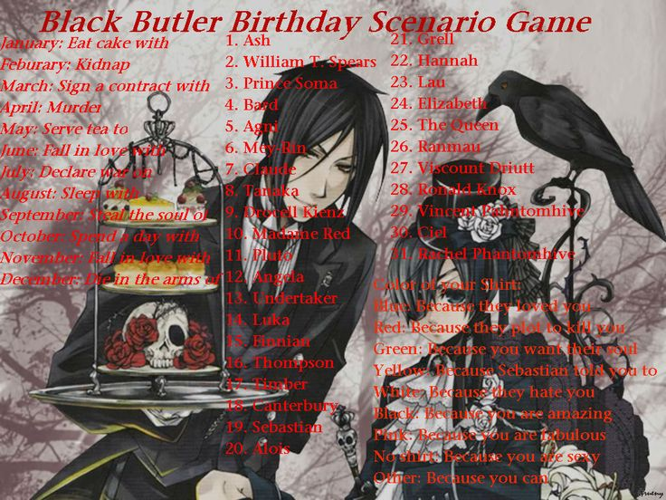 Sleep with Claude. DANG IT WHY COULDN'T IT HAVE BEEN THE OTHER DEMONIC BUTLER WHO I GOT TO SLEEP WITH
