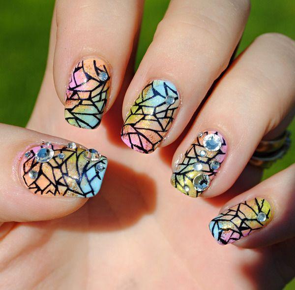 Картинки витражные ногти