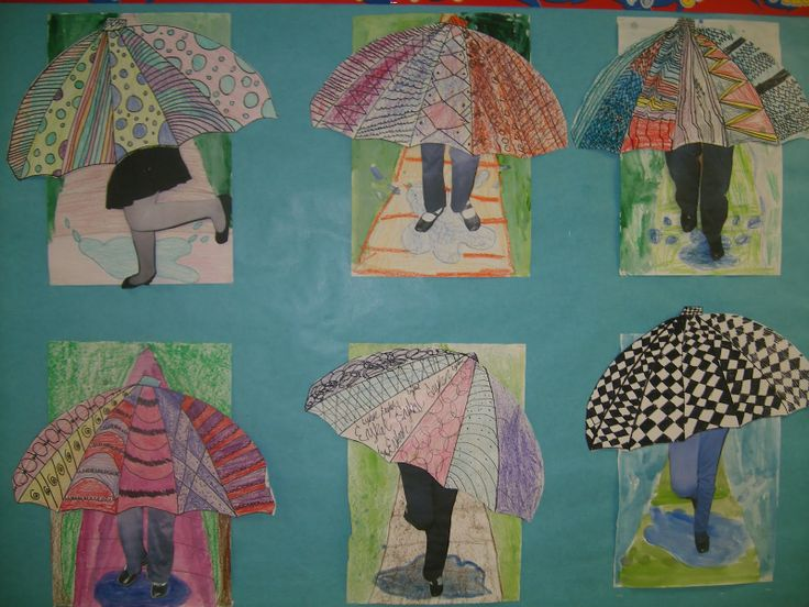 Awesome Art Projects: 4th Grade Umbrellas