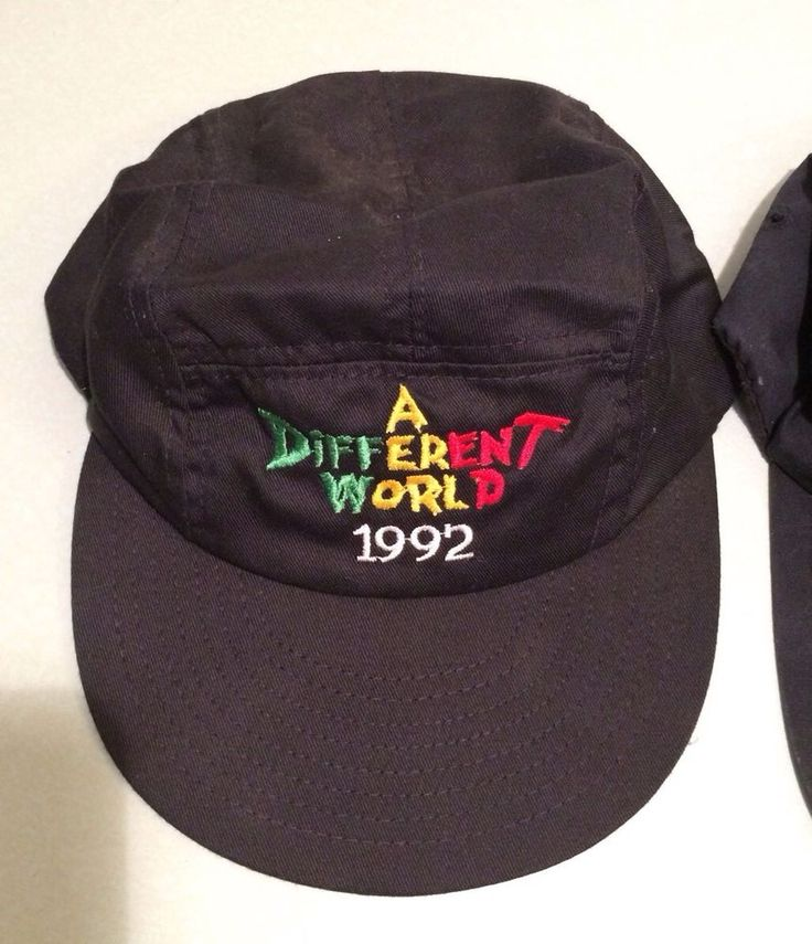 Vintage 1992 A Different World Tv Show Cycling Cap Hat 5 Panel Hat Costume Hallo