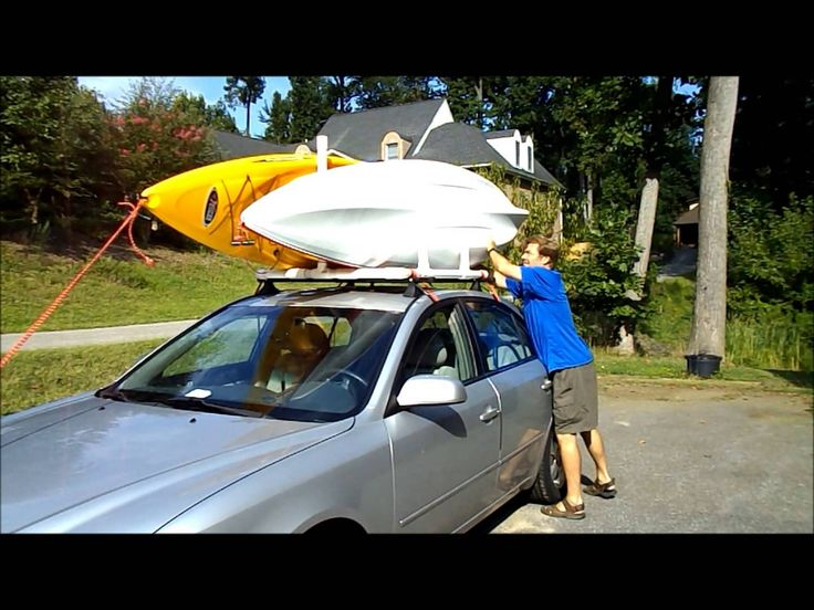 PVC Dual Kayak Roof Rack for $50