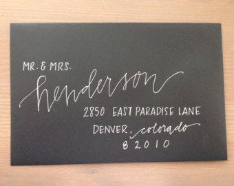 Custom Wedding Calligraphy - Envelope Addressing