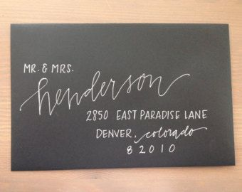 Custom Modern Calligraphy Envelope Addressing by 1of1doodles