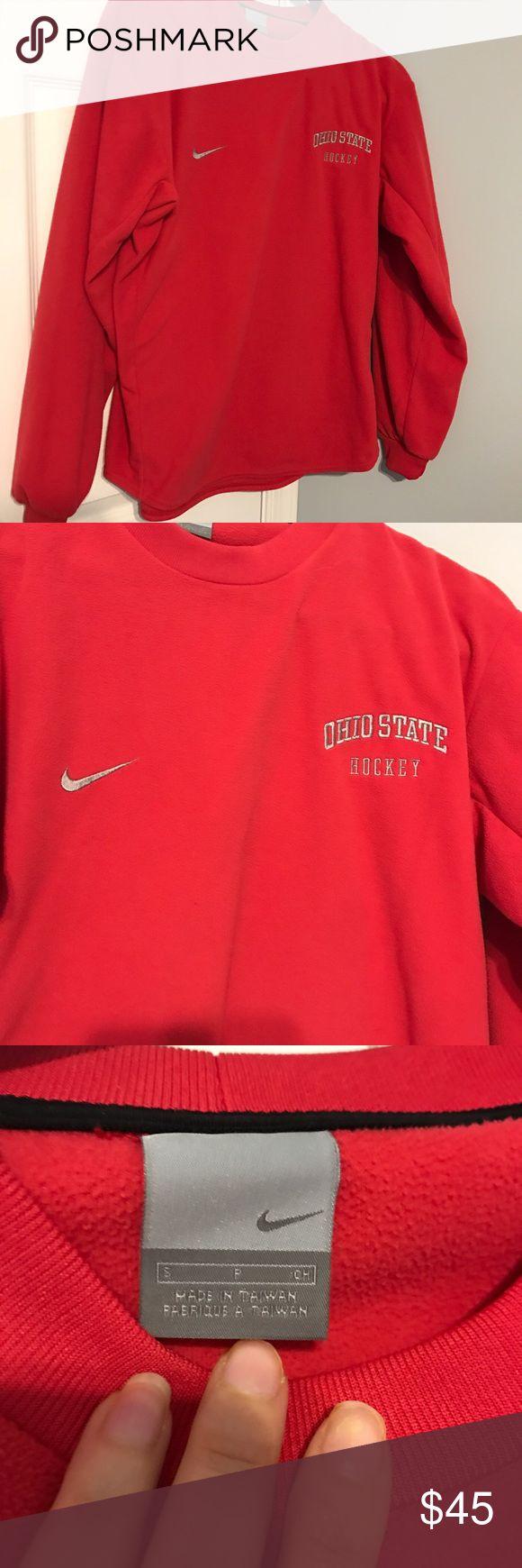 Nike Ohio state hockey sweatshirt. Small Ohio state hockey sweatshirt. Worn a small handful of times. EEUC Nike Tops Sweatshirts & Hoodies