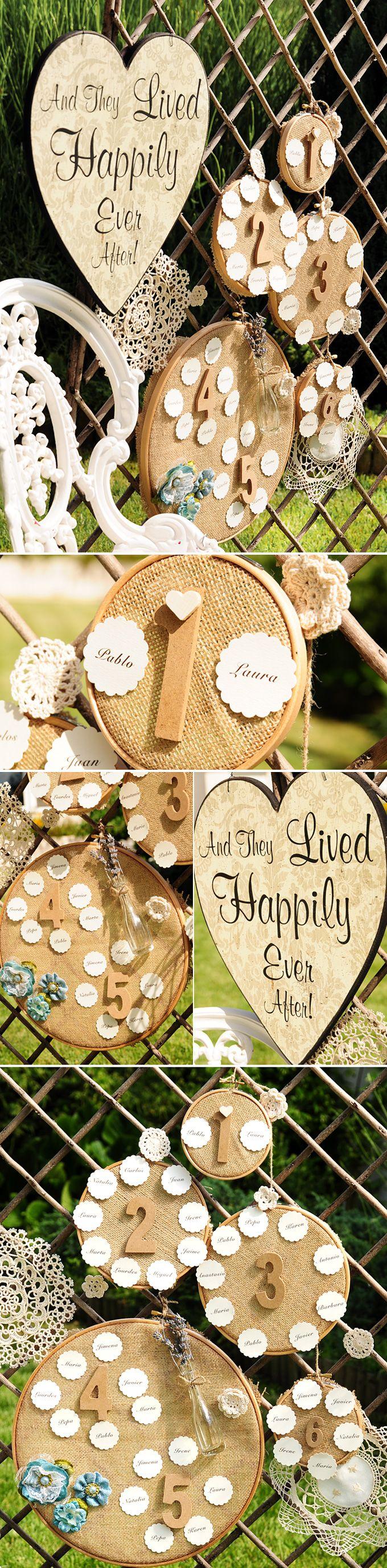 Ideas para organizar a los invitados de tu boda
