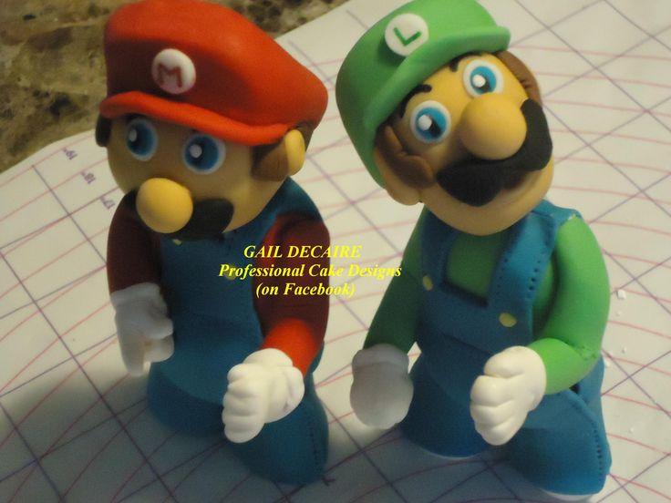 Mario & Luigi Cake Topper's Gail Decaire Professional Cake Designs On Facebook