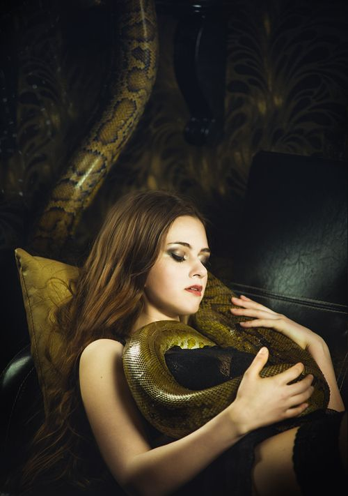 Nude Women With Snakes