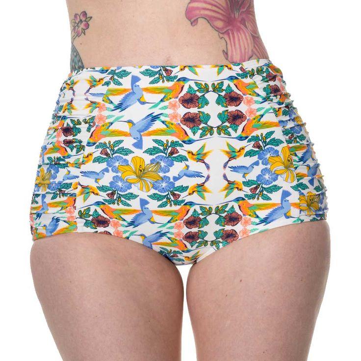 Banned Shoreline bikini broek met bloemen en vogels print multicolours