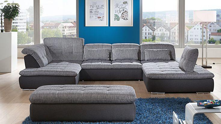 Couch u form  Ecksofa in U-Form als gemütliche Wohnlandschaft #couch #Wohnzimmer ...