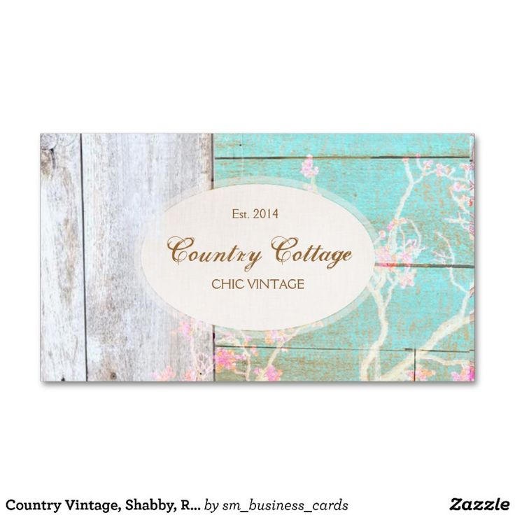 Country Vintage, Shabby, Rustic Wood Chic Boutique Business Card