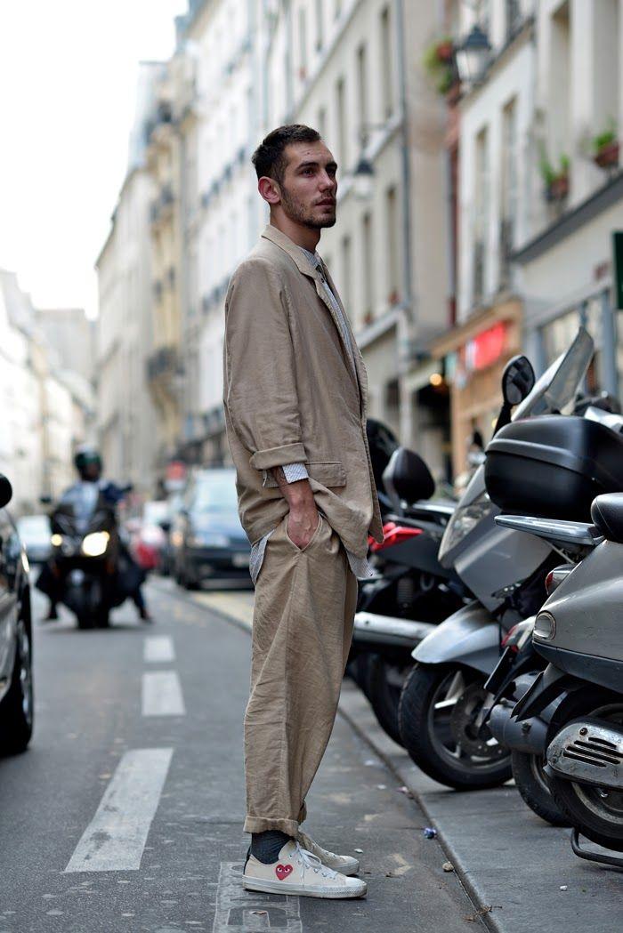 DapperLou.com | Men's Fashion & Style Blog | Street Style | Online Shopping : Street Gents | Oversized Summer Suit..Paris