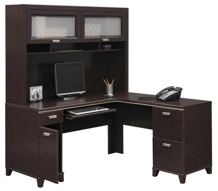 office depot desk hutch black home with shaped corner workstation