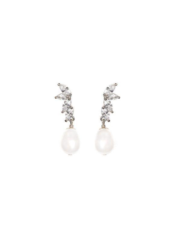 LOURDES Pearl Bridal Earrings 1