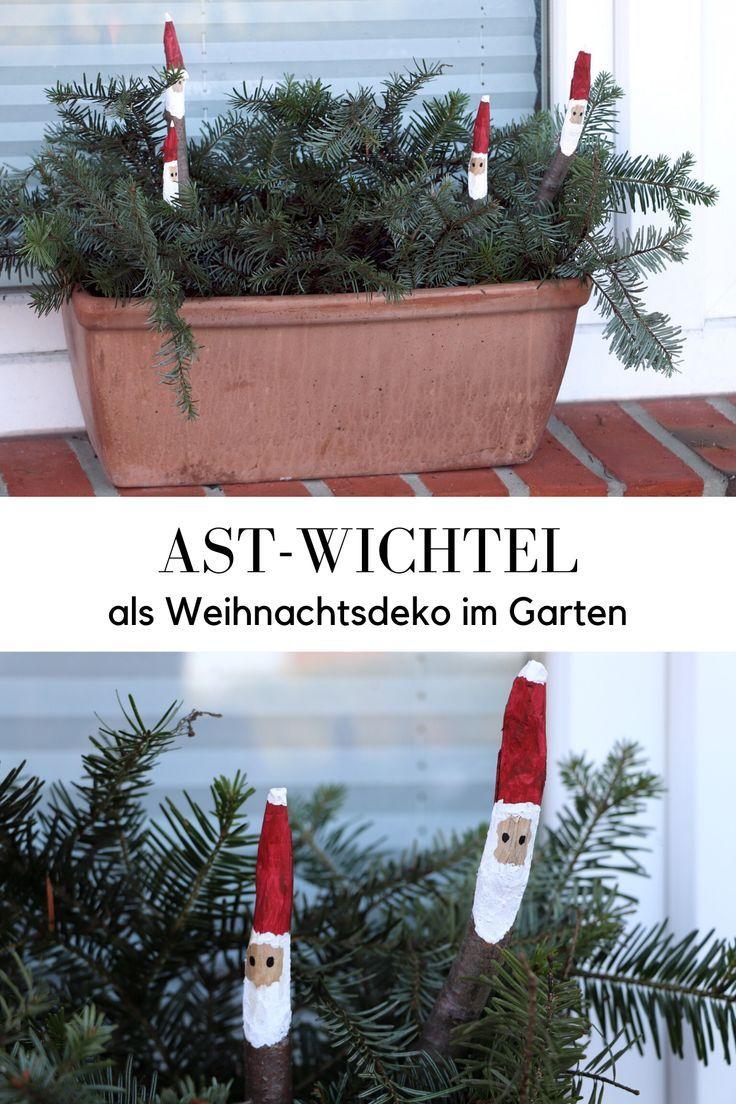 Auf In Den Wald Wir Basteln Ast Weihnachtsmanner Lavendelblog Weihnachtsdeko Im Garten Weihnachtsmann Basteln Weihnachtsbasteln