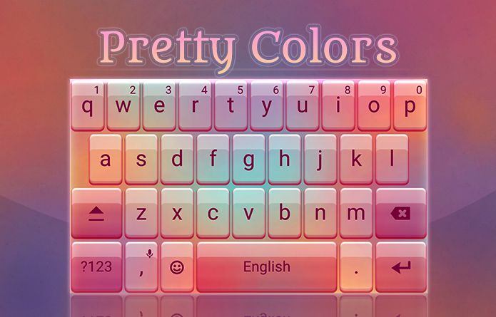 Pretty Colors Theme: These pretty and simple colors will make your Android keyboard alive! #android #theme #design #wallpaper #keyboard #technology #gadgets #design #redrawkeyboard #pretty #colors #clean