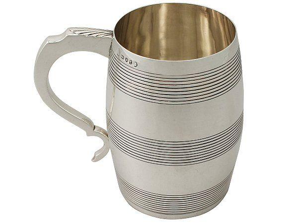 Sterling Silver 'Barrel' Quart Mug - Antique George III  http://www.acsilver.co.uk/shop/pc/Sterling-Silver-Barrel-Quart-Mug-Antique-George-III-65p8338.htm