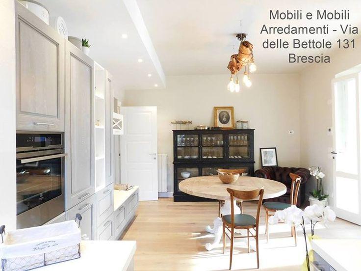 Cucina e zona living modello Agnese marchio Cucine Lube, 2016 - LUBE Brescia Concept Store Cucine LUBE e CREO kitchens