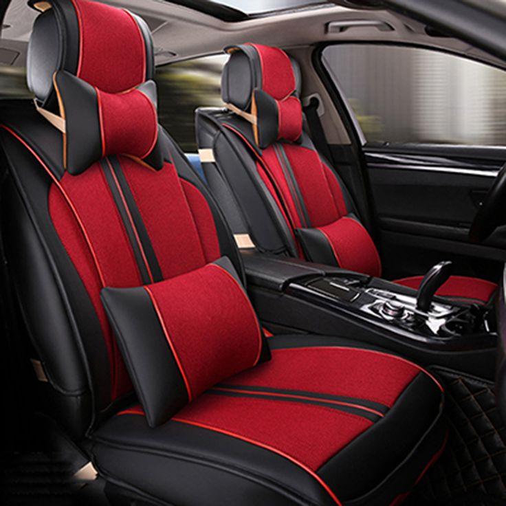 Universal Leather Car Seat Covers For Cadillac SLS ATSL CTS XTS SRX CT6 ATS Escalade Auto