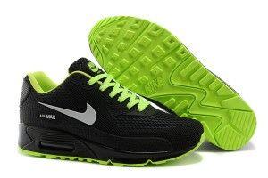 Sconti online donne nike scarpe da running air max 90 hyperfuse kpu tpu nere,verdi,argento in saldo italia